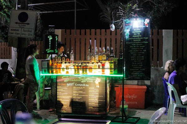 Mobile cocktailbar night market Koh Samui Lamai beach