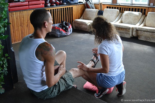 Getting the energy flowing, exercises during the Taikiken Natural Tuning workshops in Cz
