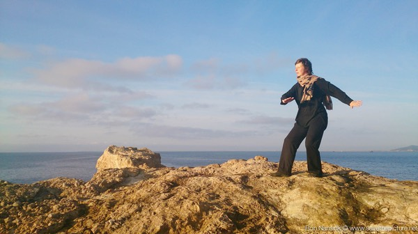 ibiza retreat natural tuning april 2015 Elsbeth Tijssen Taikiken two circles Yoir training on the rocks