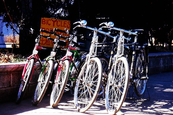 Lijiang bycicles for rent