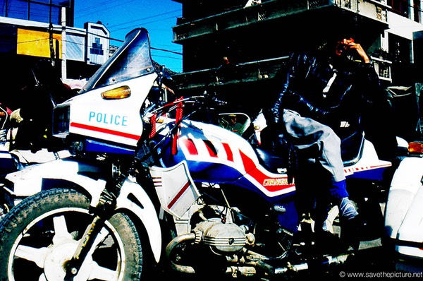 Lijiang Naxi police motercycle