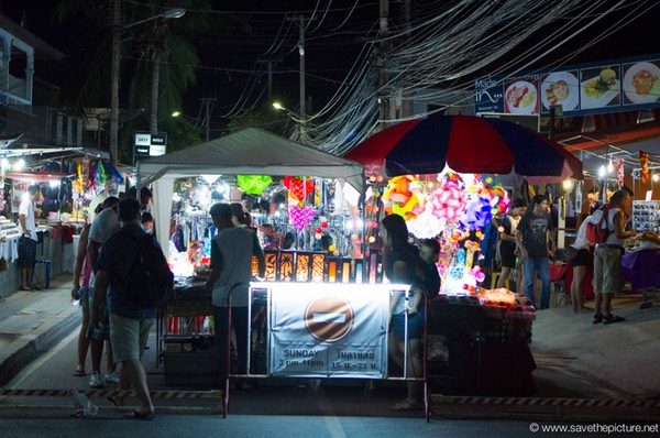 Entrance of the Samui, Lamai night market
