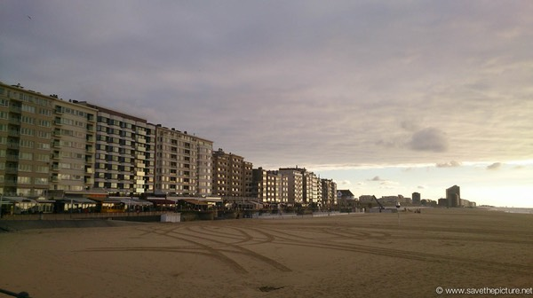 Ostend boulevard sunset