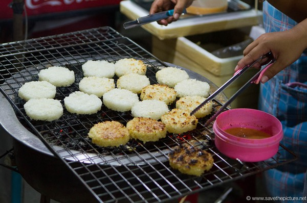 Crispy rice cakes from the grill, great taste