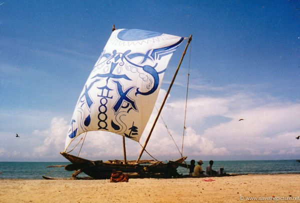 Sri Lanka catamaran art, time to relax