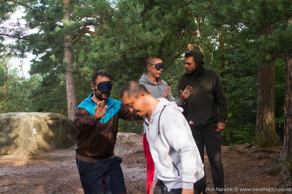 Taikiken Natural Tuning 2016, blindfold walking in free nature, to sharpen the senses