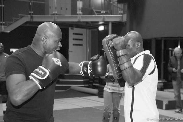 4 times K1 world champion Ernesto Hoost training with k1 fighter Jerrel Venetiaan