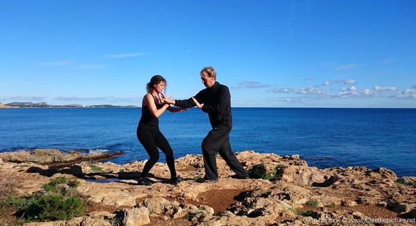 Ibiza retreats Natural Tuning and Detox pushing hands