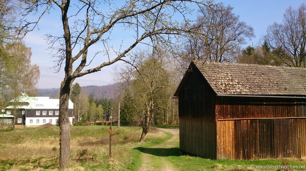 Wooden barn near Zamecek